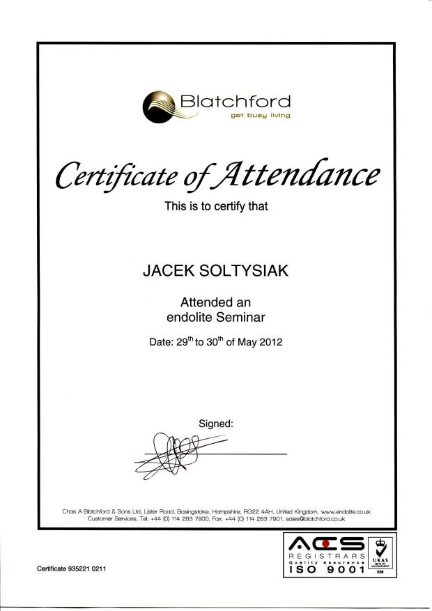 certyfikat blatchford
