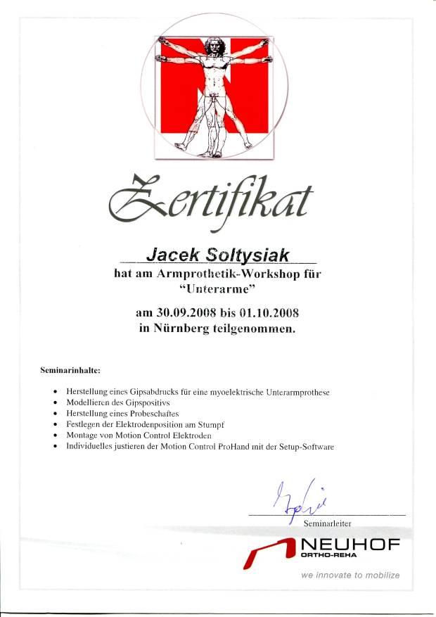 Certyfikat neuhof